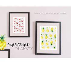 Inspirując się trendami nadchodzącego lata,stworzyłam serię 3 mini plakatów A4,z soczystymi, kolorowymi owocami.Świetny pomysł na zagospodarowanie ściany w pokoju, kuchni czy na biurku w pracy.Nume…
