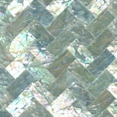 Abalone backsplash tile I can't imagine it's very durable but it sure is beautiful!