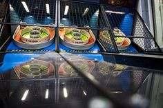 Rockin' Raceway -- Speedy go-kart racetrack with hairpin turns and a retro-themed, neon-lit arcade with 150 games.