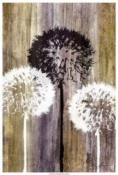 Dandelion art - Rustic Garden II Fine-Art Print by James Burghardt Canvas Art Prints, Canvas Artwork, Painting Prints, Fine Art Prints, Art Paintings, Canvas Canvas, Painting Gallery, Canvas Size, Art Gallery