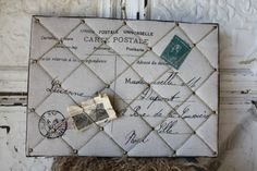 Burlap & Twine Board - this was a success - will have to do it again