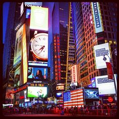 Times Square. NYC now.