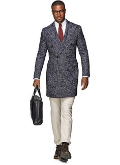 Blue Double Breasted Coat J291 | Suitsupply Online Store