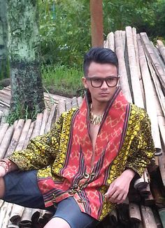 jacket batik  mix tenun ikat