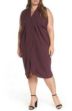 503d7d44c43 RACHEL Rachel Roy Daina Drapey Midi Dress (Plus Size)