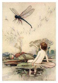 001-The water-babies a fairy tale for land-baby 1909-ilustrado por  Warwick Goble