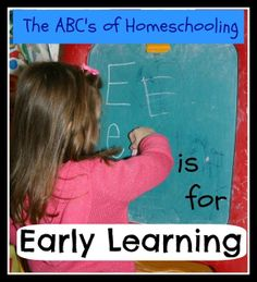 E is for Early Learning - The ABCs of Homeschooling {guest post - Emily} - My Joy-Filled Life