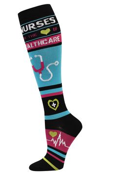 Healthcare Fashion Compression Sock - 94699  Show your passion at work while sporting these proud socks!