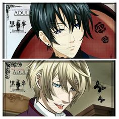 Ciel and Alois as adults...too bad neither of them will ever be able to see adulthood---SHUT UP YOU ARE MAKING IT WORSE