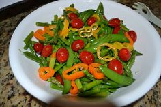 Snap Pea, Cucumber & Asparagus Salad -- this is great!