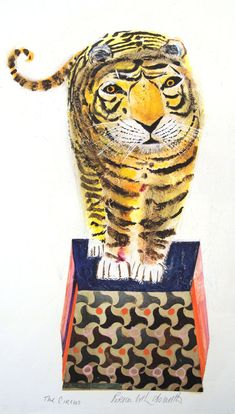 Oh my fave! Children's book illustrator Brian Wildsmith. This tiger's a beauty!!!!