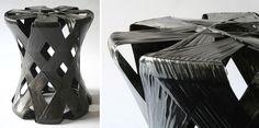 moorhead + moorhead: carbon fibre filament wound stool