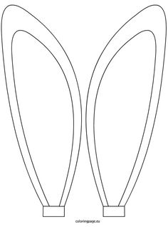 Coloring Page Bunny Ears Coloring Pages - Easter-bunny-ears-coloring-pages