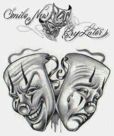 Divine Gangsta Clown Tattoos Pictures Of Gangster Tattoos Gangster Clown Tattoos Designs Best 3d Tattoos, Tattoos 3d, Kunst Tattoos, Latest Tattoos, Bild Tattoos, Sleeve Tattoos, Catrina Tattoo, Clown Tattoo, Mask Tattoo
