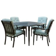 Martha Stewart Living, Avondale Sonora Sage 5-Piece Dining Patio Set-DISCONTINUED, 0485300620 at The Home Depot - Mobile