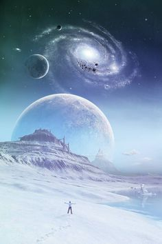 Tamino by sanosoke on DeviantArt - Kosmos Planets Wallpaper, Wallpaper Space, Galaxy Wallpaper, Sci Fi Background, Arte Sci Fi, Space Artwork, Alien Worlds, Space And Astronomy, Universe Art