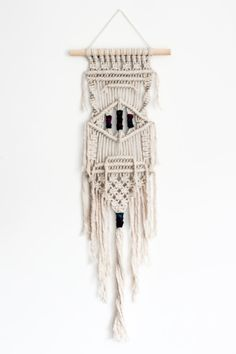 Macrame Wall Hanging Cream Recycled Cotton