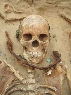 Medieval Vampire Skeleton. Medieval vampire tombs found around the Europe.