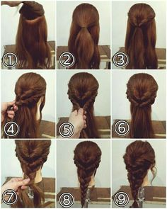Easy Hairstyles For Long Hair, Girl Hairstyles, Easy Wedding Hairstyles, Simple Braided Hairstyles, Waitress Hairstyles, Disney Hairstyles, Easy Updos For Medium Hair, Pulled Back Hairstyles, Long Hairstyles