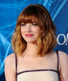 Emma Stone at the 2014 premiere of 'The Amazing Spider-Man 2'.