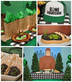 Bigfoot themed birthday party with Such Fun Ideas via Kara's Party Ideas | Cake, decor, cupcakes, favors, games, and MORE! KarasPartyIdeas.c...