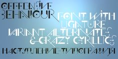 Offfensive Behaviour Typeface by zetafonts - the fonts foundry