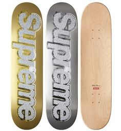 Supreme Bling Skate Deck Gold/Silver