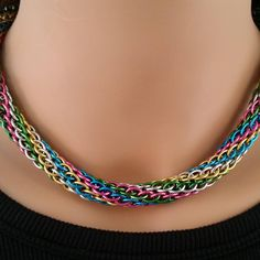 Pencil Weave. So pretty :) #chainmaille #artisanmadejewelry #artisanmade