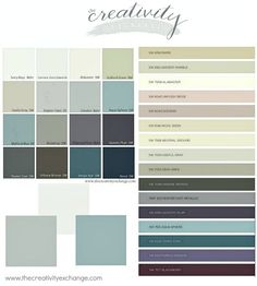 What do you think of these new fall paint colors? 2016 Color Forecasts and Trends in Paint Colors. The Creativity Exchange Room Colors, Wall Colors, House Colors, Interior Paint Colors, Paint Colors For Home, Paint Colours, Trending Paint Colors, Paint Color Schemes, House Painting