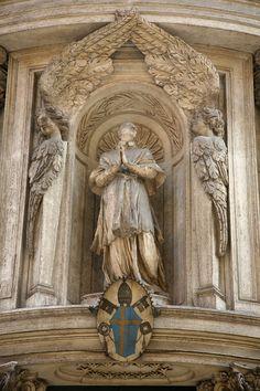 Chiesa di San Carlo alle Quattro Fontane also called San Carlino - Rome, Italy. architect Borromini - 1667 completed