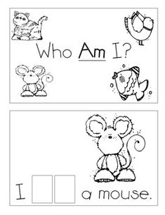 "Free Level A Sight Word Reader- write, stamp, or glue the letters for the word ""AM"""