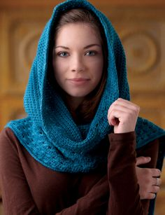 How about some FREE accessory patterns to brighten your day (including this one). What an awesome hooded scarf!