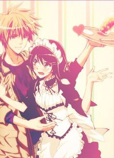 "This is from the anime ""Kaichou wa Maid-sama!"" The couple in the picture is Takumi Usui and Misaki Ayuzawa."