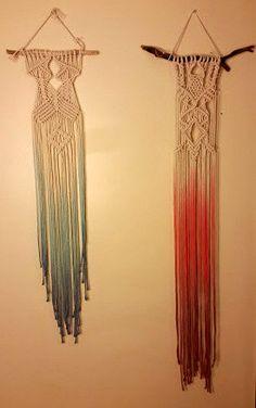 Dip dye macrame wall hangings