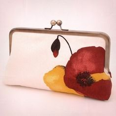 poppy clutch purse!