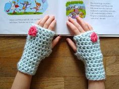 Crochet something soft and sweet for your valentine!   These fingerless gloves are perfect for keeping little hands cozy when they ne...