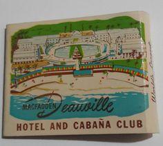 MacFadden Deauville Matchbook FS Hotel Resort Cabana Club Miami Beach FL 1950s #Frontstrikematchbook