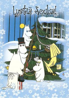 World of Postcards: Finland: Moomin Christmas Christmas Time, Christmas Cards, Merry Christmas, Christmas Ideas, Moomin Valley, Tove Jansson, A Comics, Fairy Tales, Art Gallery