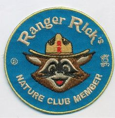 Ranger Rick's Nature club embroidered patch by FallsCreekOutfitters Hat Patches, Cool Patches, Pin And Patches, Embroidery Patches, Embroidered Patch, Travel Patches, Circle Game, Vintage Patches, Cool Stickers
