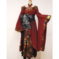 Inspired Except the bow should be in the back. The bow in the front signifies the weather is a prostitute. Japanese Outfits, Japanese Fashion, Asian Fashion, Africa Fashion, Kimono Fashion, Lolita Fashion, Fashion Outfits, Ankara Fashion, Kimono Dress