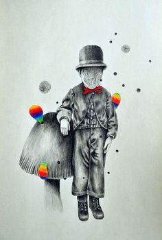 Crazy, colorful, artwork.