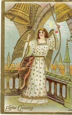 Easter Angel Vintage Postcard circa 1910-1920
