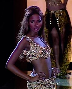 Naomi Campbell for Gianni Versace, 1991