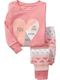 Graphic Sleep Set for Baby // Old Navy // 2T for fall/winter -- 3T for spring/summer