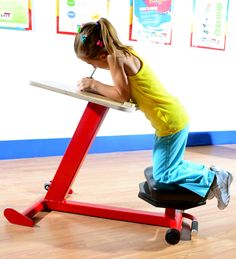 Kinesthetic Learning Desks... Whaaaaat! My kids would love this! Repinned by Apraxia Kids Learning. Come join us on Facebook at Apraxia Kids Learning Activities and Support- Parent Led Group.