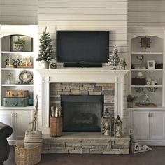 Image result for craftsman style fireplace bookshelves glass doors