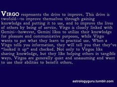 "this would have been perfect if not for the typo. . .  ""not only *do* Virgos,"" it should say."