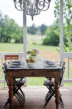 Back porch table