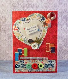 Birthday Wishes by Gail Wrigg Papermania Sew Lovely