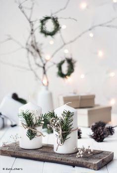 minimal scandinavian christmas decoration